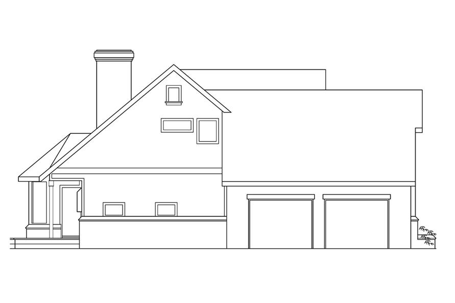108-1450: Home Plan Left Elevation