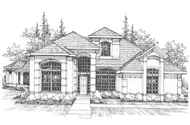 4-Bedroom, 3791 Sq Ft Contemporary House Plan - 108-1451 - Front Exterior