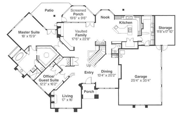 First Floor Floor Plan for Rochester