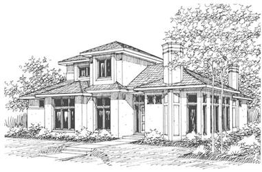3-Bedroom, 3011 Sq Ft Contemporary House Plan - 108-1452 - Front Exterior