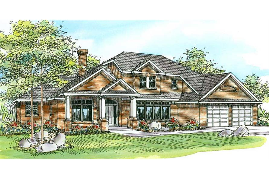 4-Bedroom, 2922 Sq Ft Contemporary House Plan - 108-1454 - Front Exterior