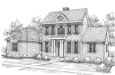 3-Bedroom, 2707 Sq Ft Colonial House Plan - 108-1455 - Front Exterior