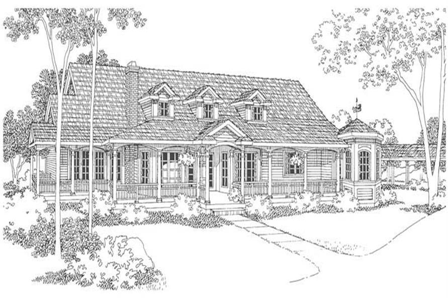 Home Plan Rendering of this 3-Bedroom,2966 Sq Ft Plan -108-1458