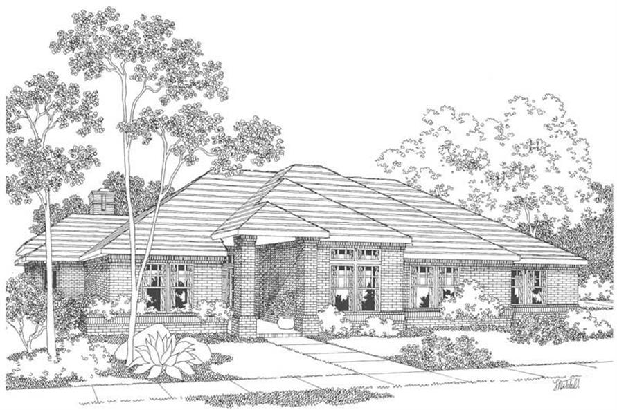 3-Bedroom, 2596 Sq Ft Contemporary House Plan - 108-1459 - Front Exterior