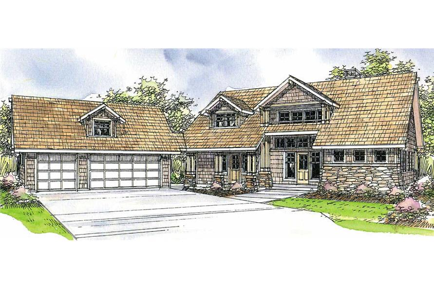 3-Bedroom, 2428 Sq Ft Craftsman House Plan - 108-1460 - Front Exterior