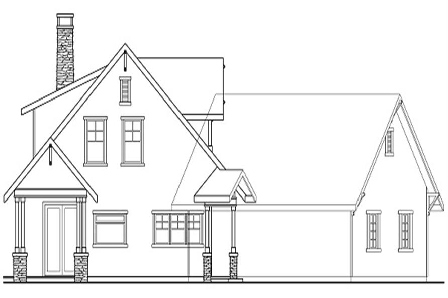 Home Plan Left Elevation of this 3-Bedroom,2428 Sq Ft Plan -108-1460