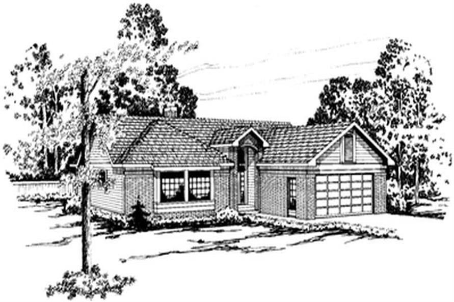 3-Bedroom, 1749 Sq Ft Small House Plans - 108-1465 - Main Exterior