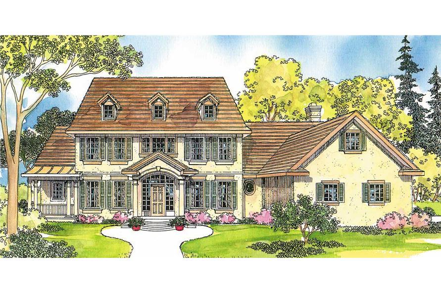 5-Bedroom, 4076 Sq Ft Colonial House Plan - 108-1467 - Front Exterior