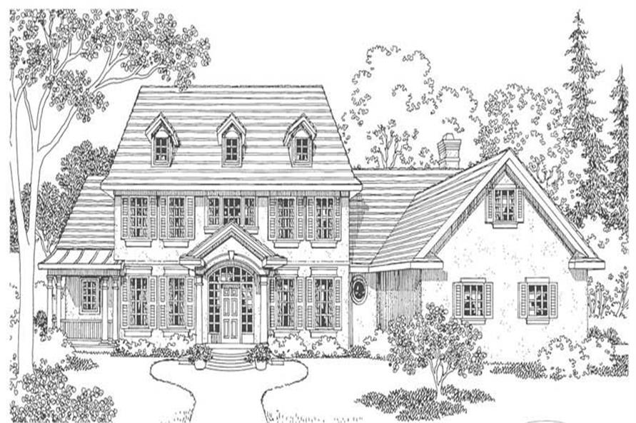 Home Plan Rendering of this 5-Bedroom,4076 Sq Ft Plan -4076