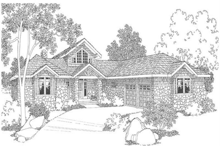 Home Plan Rendering of this 3-Bedroom,2556 Sq Ft Plan -2556