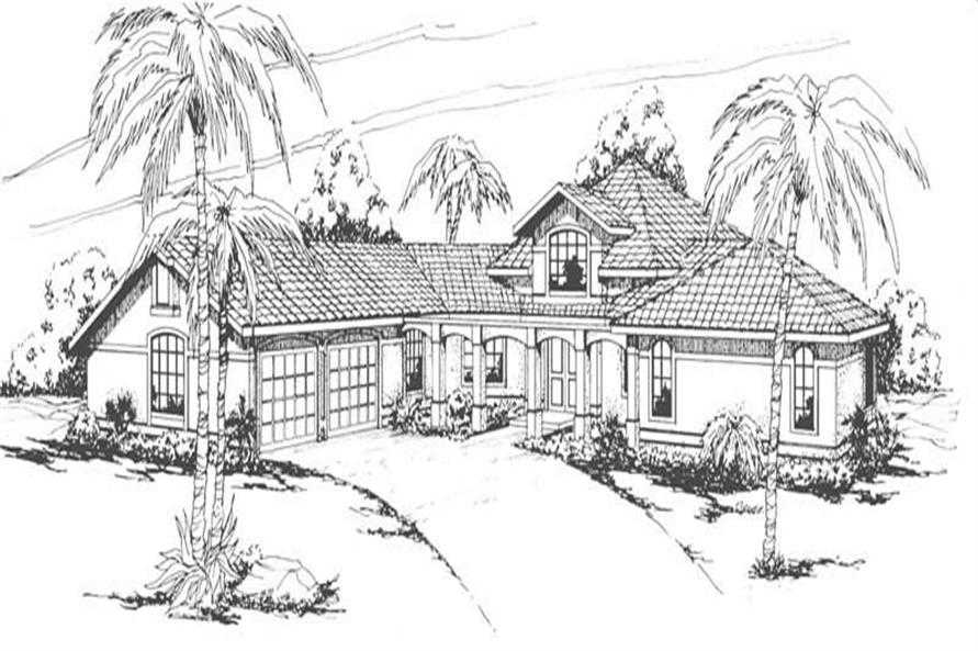 Solano Main Elevation of this 3-Bedroom,2773 Sq Ft Plan -2773