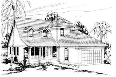 3-Bedroom, 2171 Sq Ft Mediterranean House Plan - 108-1471 - Front Exterior