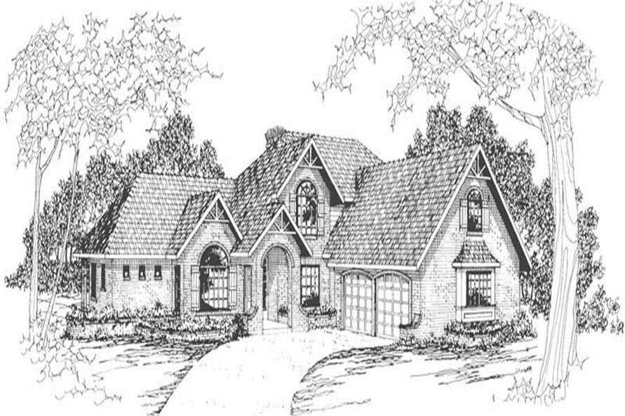 Home Plan Rendering of this 3-Bedroom,2998 Sq Ft Plan -108-1474