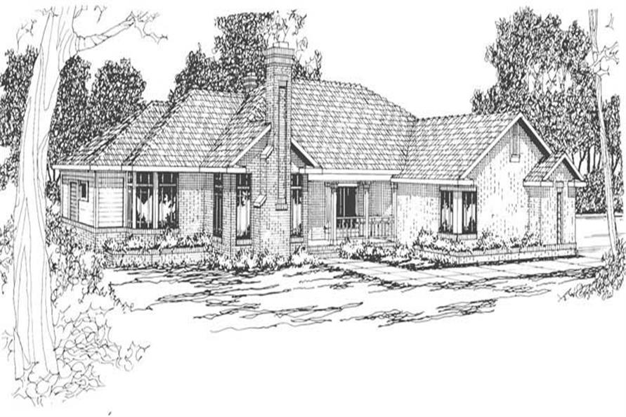3-Bedroom, 2480 Sq Ft Ranch House Plan - 108-1475 - Front Exterior