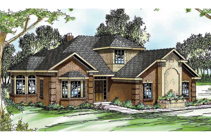 4-Bedroom, 2285 Sq Ft Traditional House Plan - 108-1476 - Front Exterior