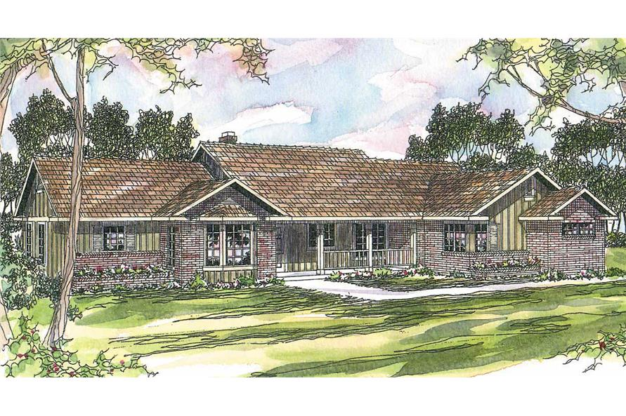 4-Bedroom, 2339 Sq Ft Ranch House Plan - 108-1477 - Front Exterior