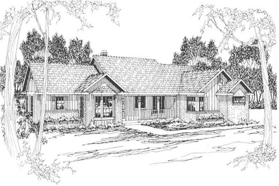 Home Plan Rendering of this 4-Bedroom,2339 Sq Ft Plan -108-1477