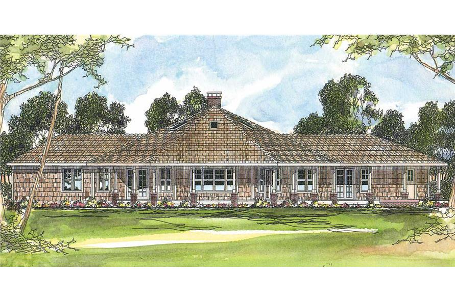 4-Bedroom, 2568 Sq Ft Craftsman House Plan - 108-1481 - Front Exterior