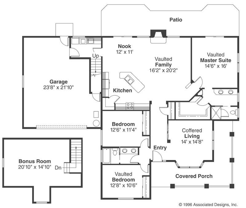 Country home with 3 bedrooms 2000 sq ft floor plan 108 for 2000 sq ft country house plans