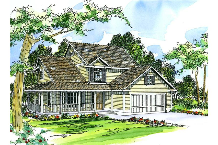 4-Bedroom, 1972 Sq Ft Country House Plan - 108-1483 - Front Exterior