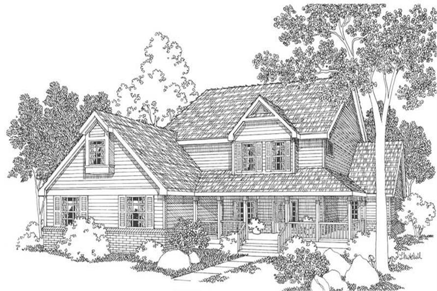 Country Home With Bedrooms Sq Ft House Plan - 6 bedroom country house plans