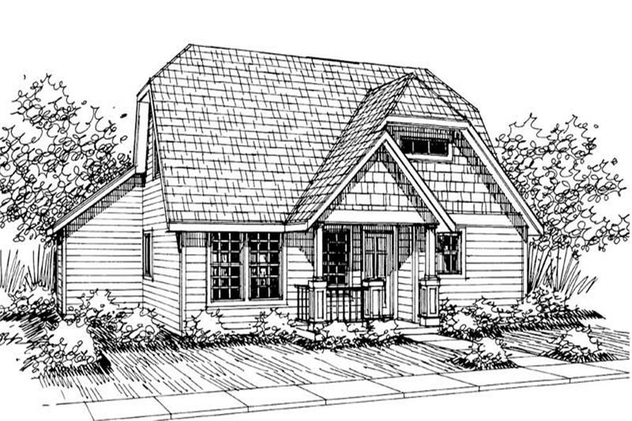 3-Bedroom, 1411 Sq Ft Country Home Plan - 108-1487 - Main Exterior