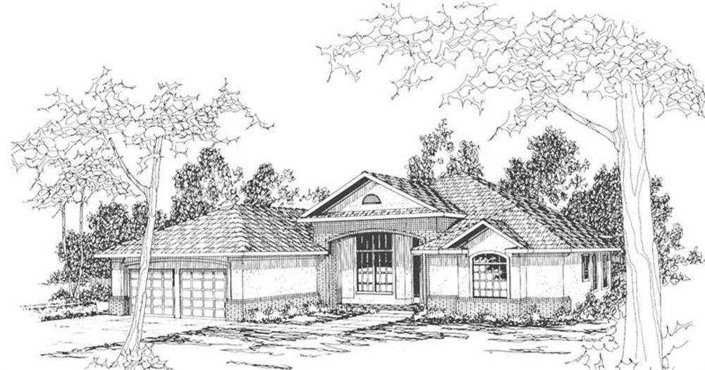 Main image for house plan # 3111