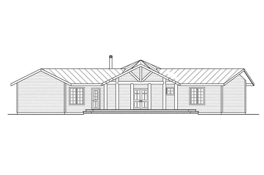 Home Plan Front Elevation of this 3-Bedroom,1735 Sq Ft Plan -108-1494