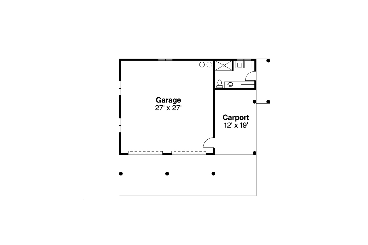 108-1494: Floor Plan Garage
