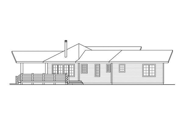 108-1494: Home Plan Left Elevation