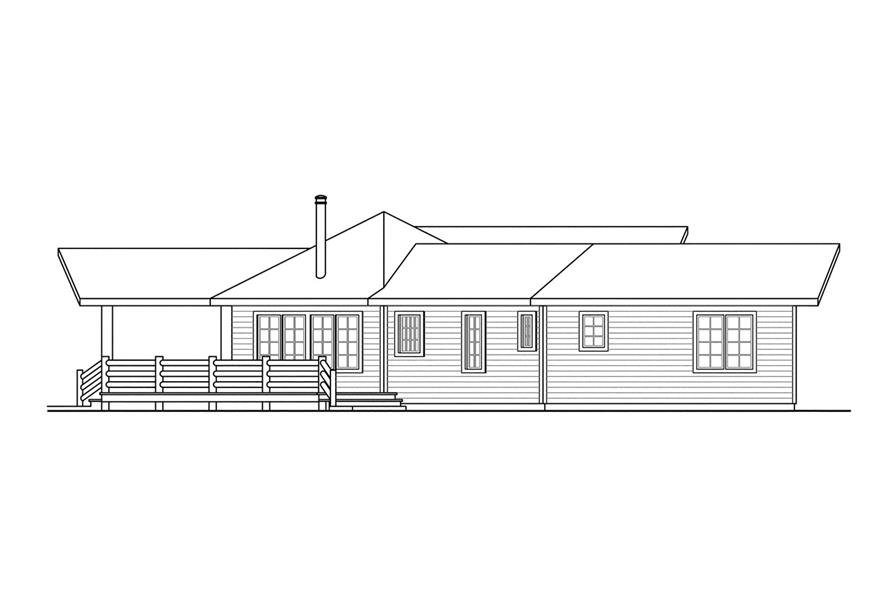 Home Plan Left Elevation of this 3-Bedroom,1735 Sq Ft Plan -108-1494