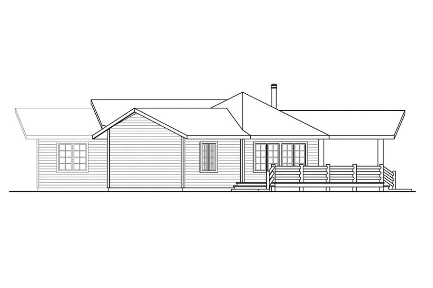 Home Plan Right Elevation of this 3-Bedroom,1735 Sq Ft Plan -108-1494