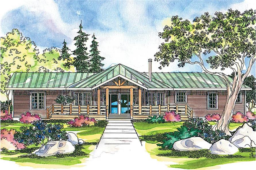 3-Bedroom, 1735 Sq Ft Ranch House - Plan #108-1494 - Front Exterior