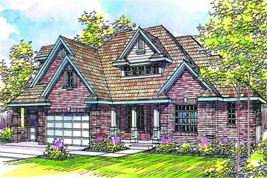 4-Bedroom, 2485 Sq Ft Craftsman House Plan - 108-1497 - Front Exterior