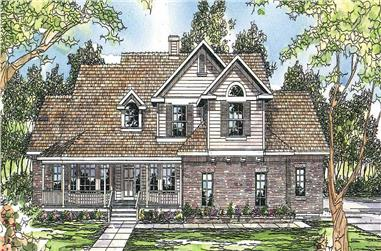 3-Bedroom, 2486 Sq Ft Country House Plan - 108-1498 - Front Exterior