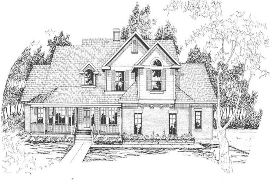 Home Plan Rendering of this 3-Bedroom,2486 Sq Ft Plan -2486