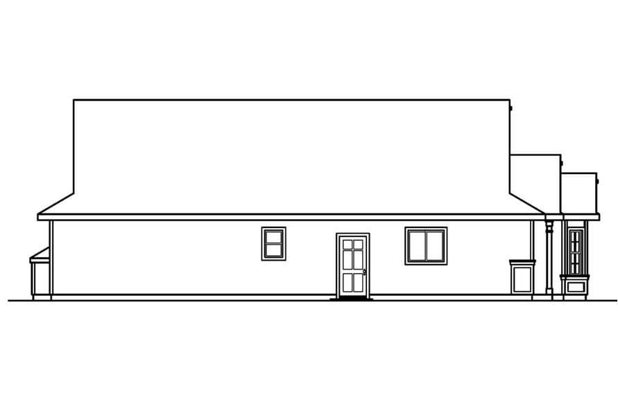 Home Plan Left Elevation of this 3-Bedroom,1731 Sq Ft Plan -108-1500