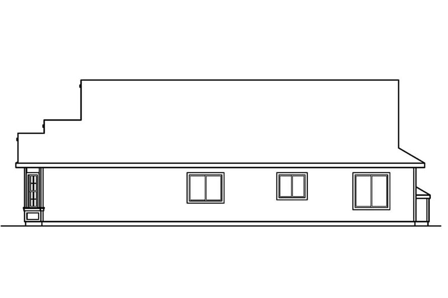Home Plan Right Elevation of this 3-Bedroom,1731 Sq Ft Plan -108-1500