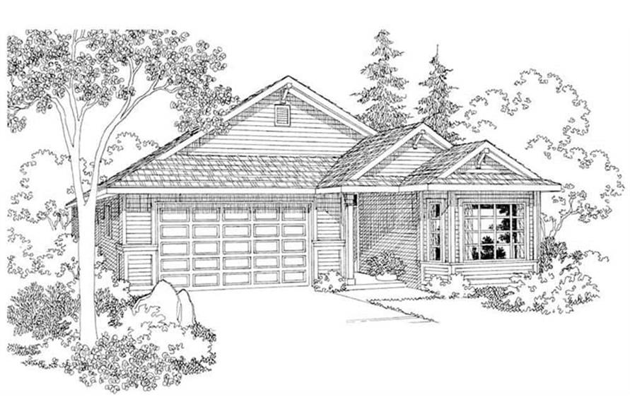 Front View of this 3-Bedroom,1731 Sq Ft Plan -108-1500