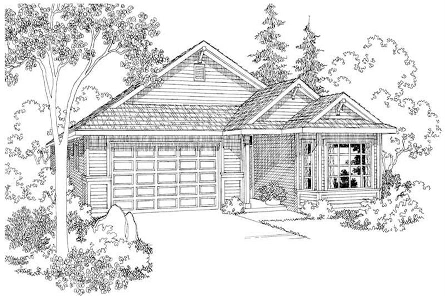 3-Bedroom, 1720 Sq Ft Country Home Plan - 108-1500 - Main Exterior