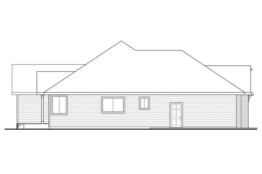 108-1502: Home Plan Left Elevation