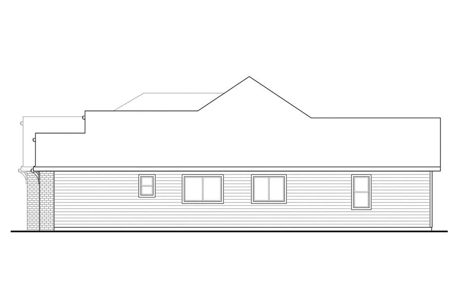 108-1502: Home Plan Right Elevation