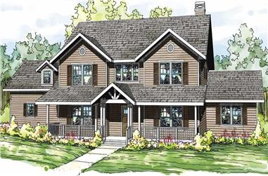4-Bedroom, 3588 Sq Ft Country House Plan - 108-1504 - Front Exterior