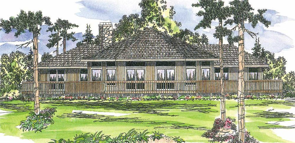 This image shows the Contemporary Style for this set of house plans.