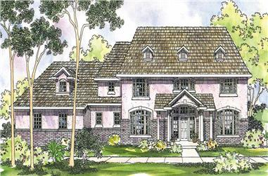 4-Bedroom, 4022 Sq Ft Colonial Home Plan - 108-1512 - Main Exterior