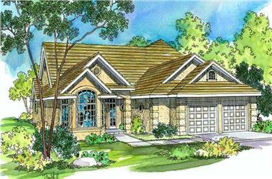 3-Bedroom, 2198 Sq Ft Southwest Home Plan - 108-1513 - Main Exterior