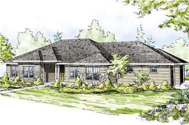 4-Bedroom, 2629 Sq Ft Prairie House Plan - 108-1515 - Front Exterior
