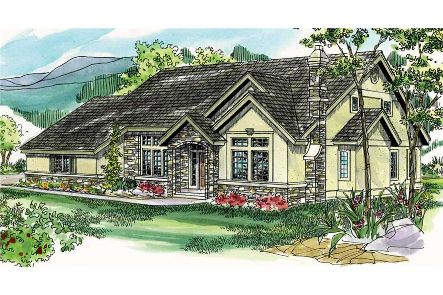 3-Bedroom, 2512 Sq Ft European Home Plan - 108-1517 - Main Exterior
