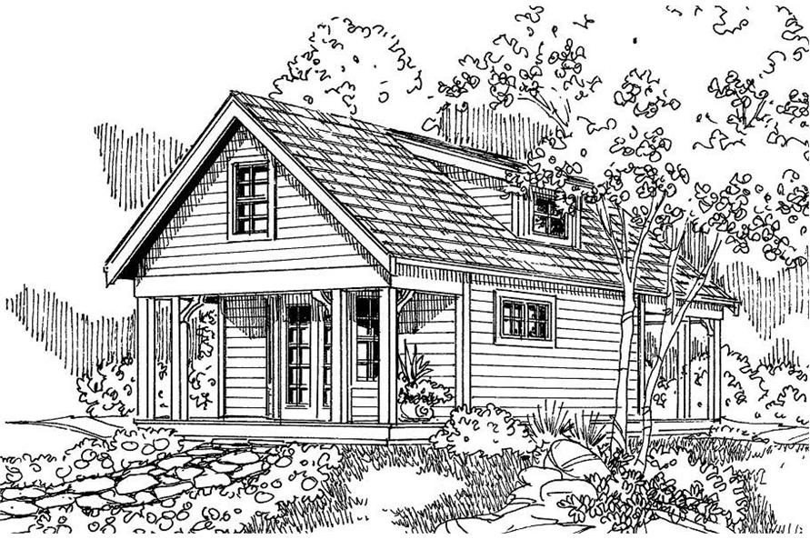 1-Bedroom, 683 Sq Ft Small House Plans - 108-1518 - Main Exterior