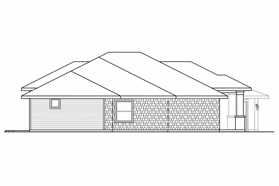 Home Plan Left Elevation of this 3-Bedroom,2657 Sq Ft Plan -108-1521